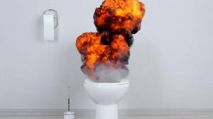 """CEL MAI CIUDAT PROCES din LUME: """"Atunci când tragi apa la WC, nu te aştepţi la o explozie"""""""